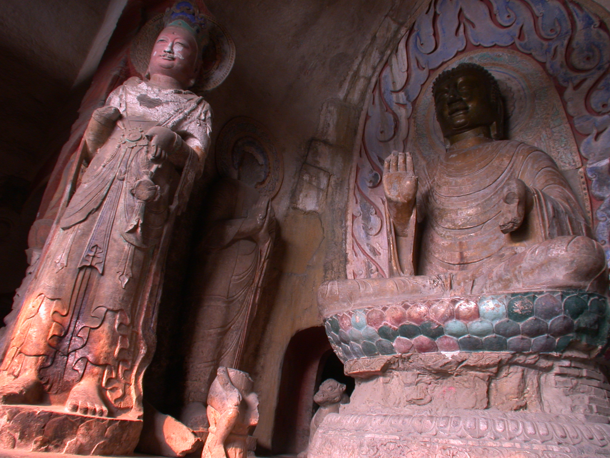 Xiangtangshan Middle Cave Buddha seated on lotus throne
