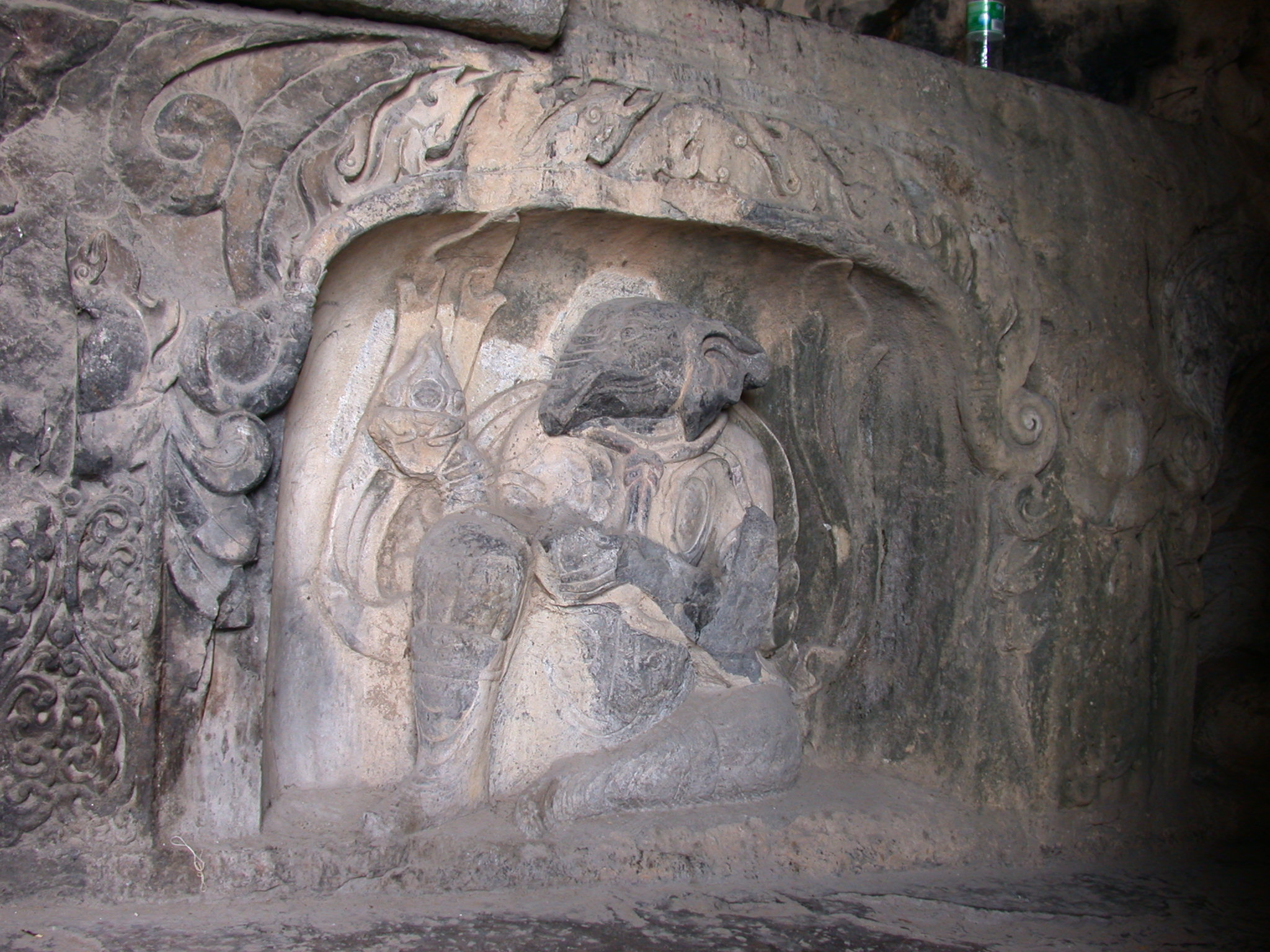 Xiangtangshan North Cave central pillar west Elephant